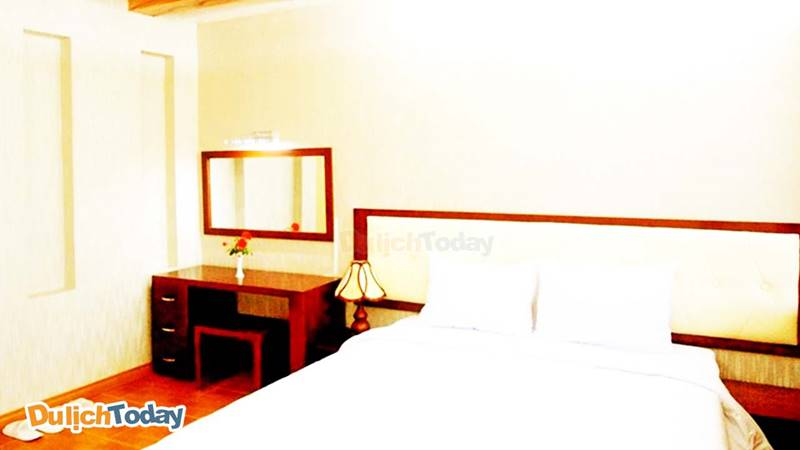 Phòng ngủ ở resort Bình Minh