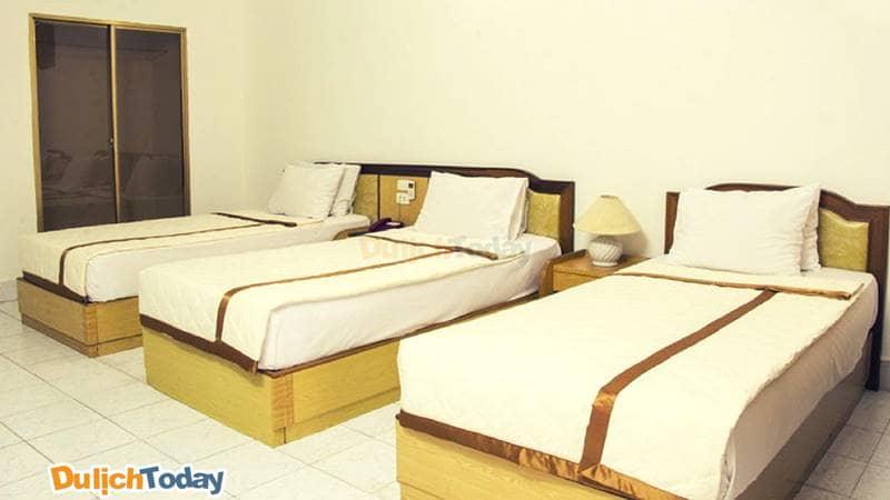 Các phòng nghỉ với tiện nghi đầy đủ, sạch sẽ tại Tháng Mười resort