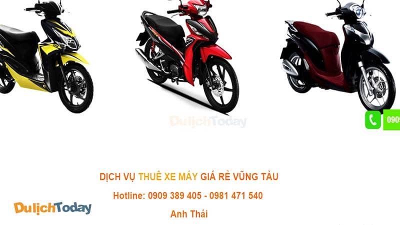 Thuê xe máy Vũng Tàu Anh Thái