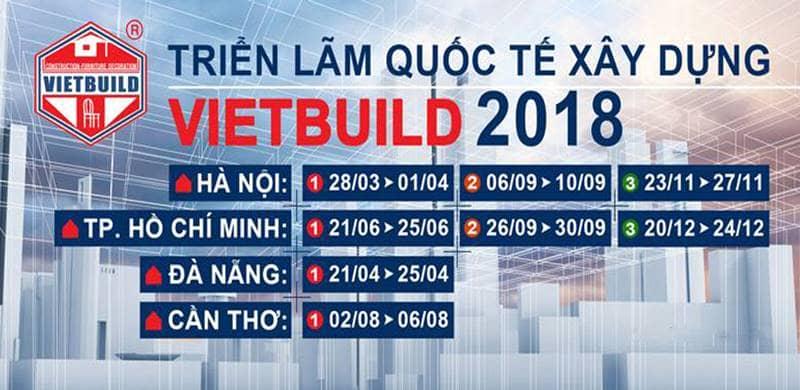 Triển lãm xây dựng quốc tế VietBuild 2018