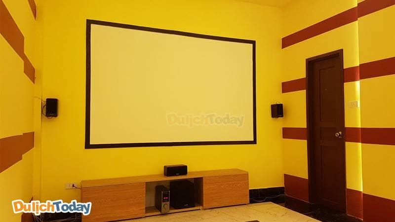 Phòng chiếu phim tại 3D Cafe phim Bách Khoa
