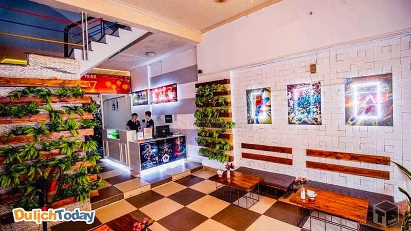 Không gian cafe tại T-Box