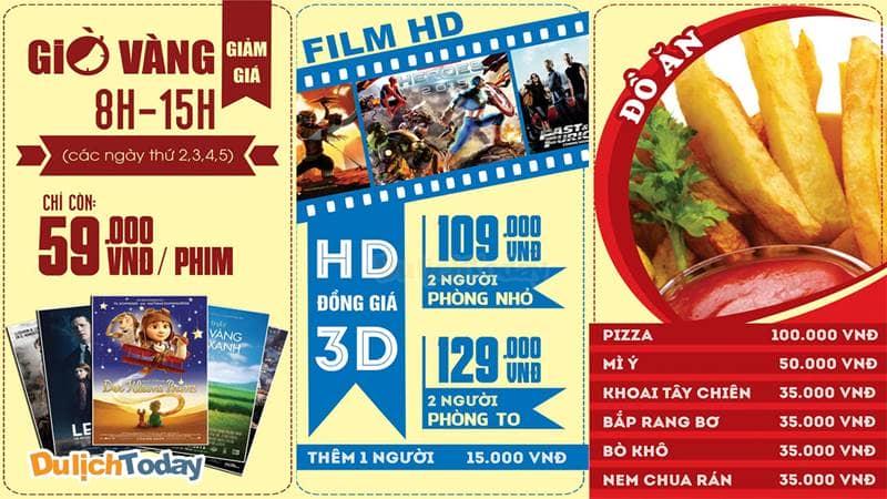Xem phim thả ga với giá hấp dẫn tại Chuỗi cafe phim 3D Box