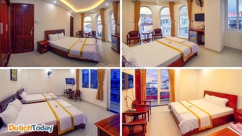 Hệ thống phòng nghỉ tại khách sạn được đầu tư với trang bị hiện đại, đầy đủ tiện nghi