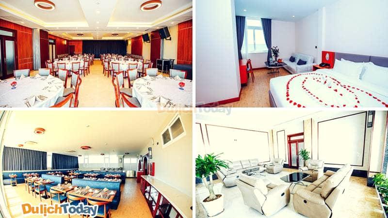 Nhà hàng và một số phòng nghỉ tiện nghi hiện đại tại khách sạn