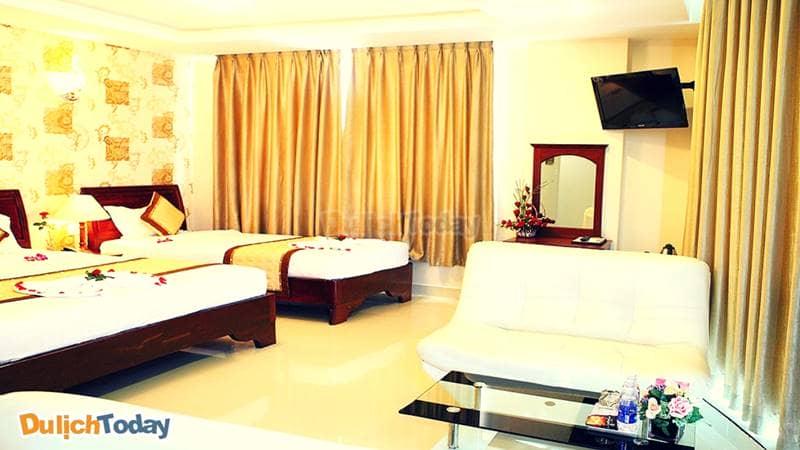 Không gian trong mỗi phòng nghỉ tại khách sạn Kiều Anh