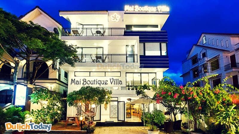 Toàn cảnh Sao Mai Boutique nhìn từ bên ngoài hiện đại xinh xắn