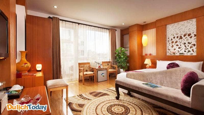 Phòng nghỉ tiện nghi cao cấp tại Golden Palace Hotel