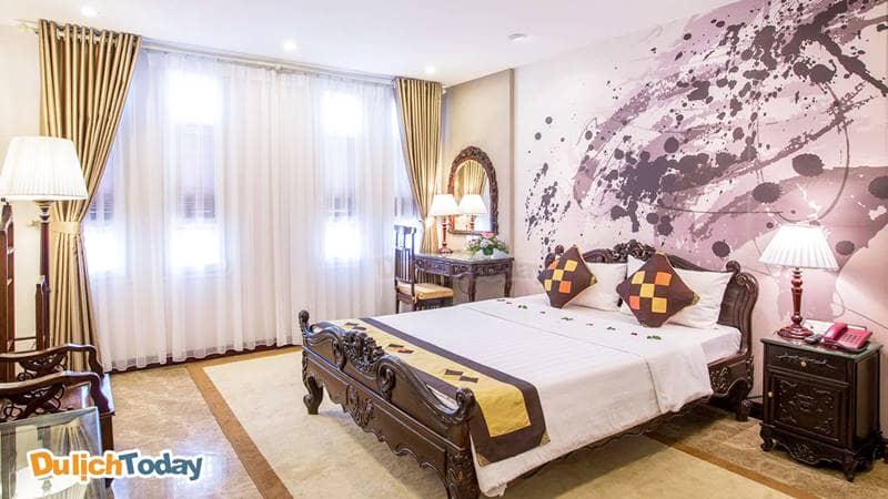 Không gian phòng nghỉ với thiết kế thú vị tại Hồng Ngọc Dynastie