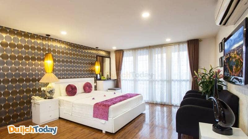 Không gian phòng nghỉ tại khách sạn Hanoi Luxury