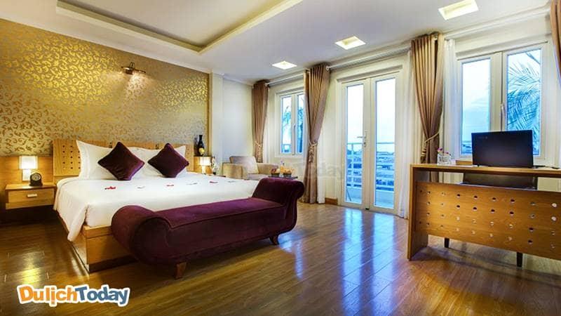 Thiết kế phòng nghỉ trang nhã và hiện đại tại La Storia Ruby Hotel