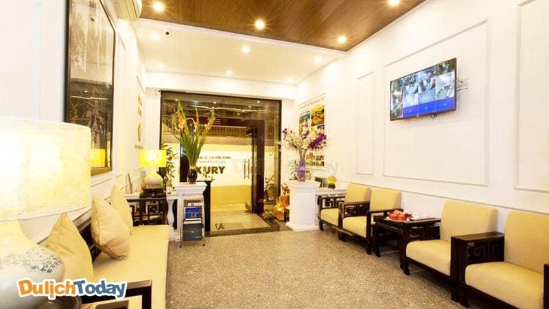 Không gian sảnh chờ tại Luxury Hotel