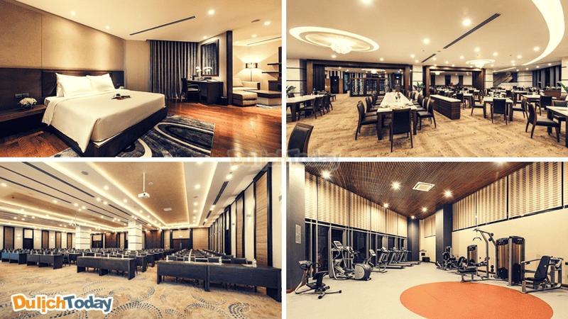 Phòng nghỉ có thiết kế hiện đại sang trọng