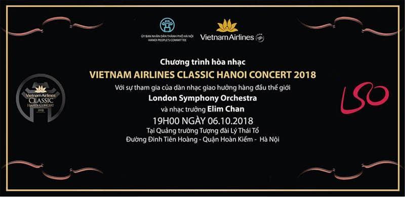 Chương trình hòa nhạc VietNam Airlines Classic - HaNoi Concert 2018