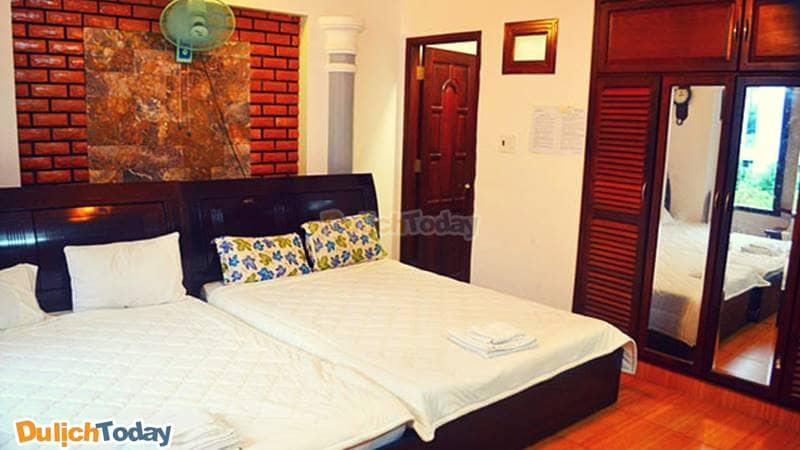 Các phòng nghỉ đầy đủ tiện nghi, sạch sẽ dành cho du khách