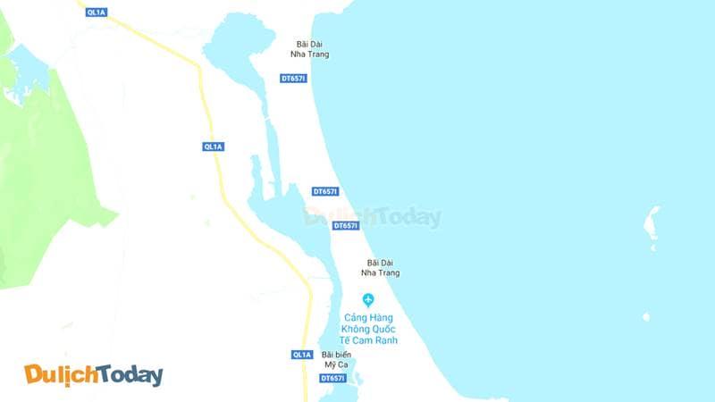 Vị trí bãi Dài Nha Trang trên bản đồ