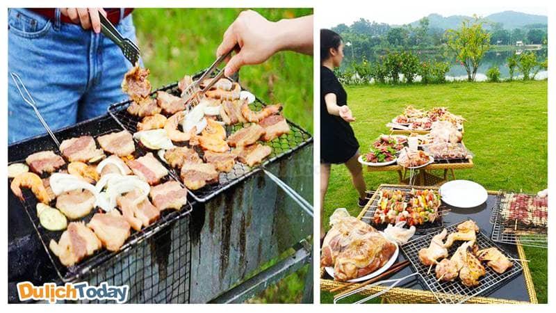 Cùng bạn bè tổ chức tiệc nướng trên bãi cỏ xanh mướt ở Bella Resort