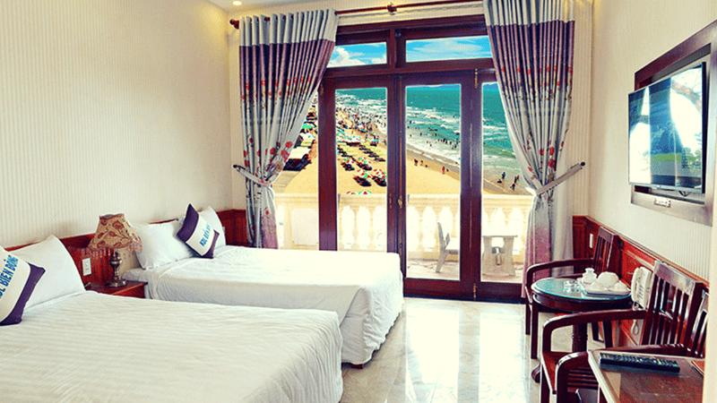 Các phòng tại khách sạn đều có view ngắm trọn bãi Sau
