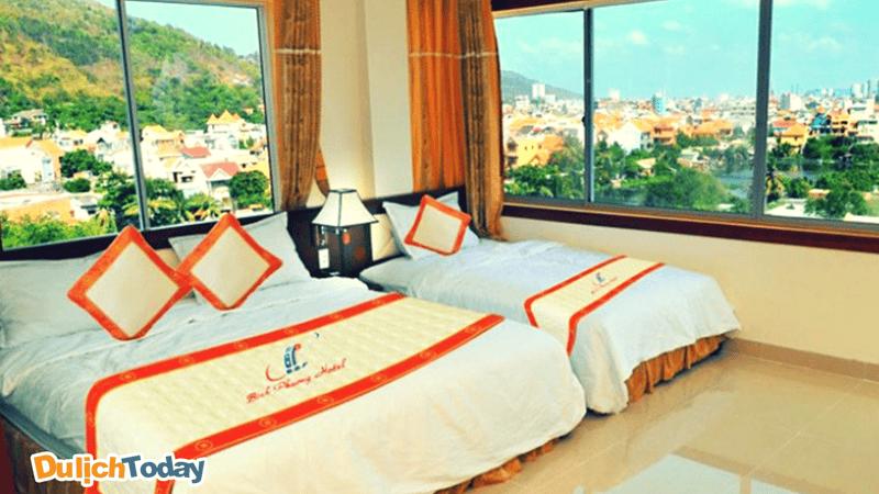 Phòng nghỉ tại khách sạn Bình Phương