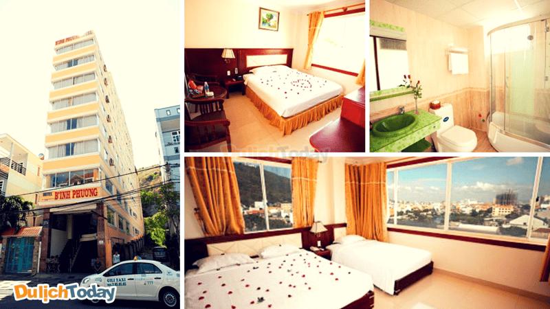 Các phòng tại Bình Phương đơn giản nhưng mang lại cảm giác thoải mái nhất cho du khách