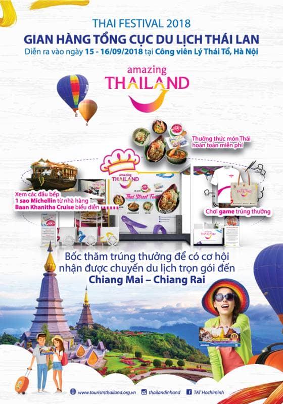 Chương trình bốc thăm trúng thưởng tại Thai Festival 2018