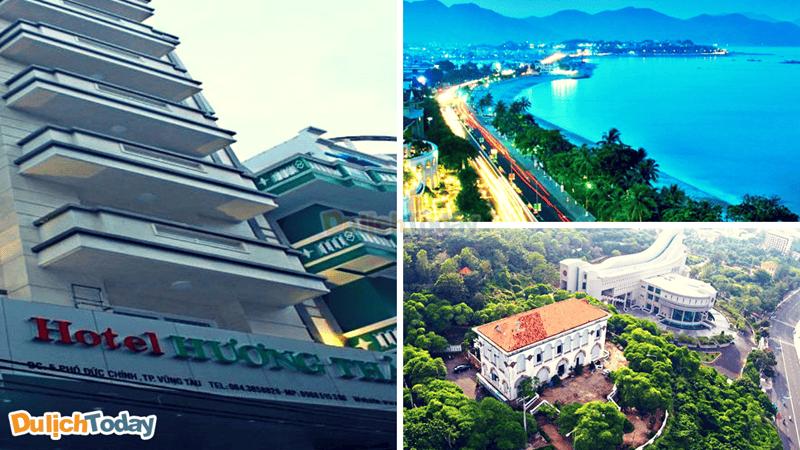 Hương Thảo hotel có vị trí rất gần các địa điểm du lịch nổi tiếng như: bãi Sau, Bạch Dinh,..