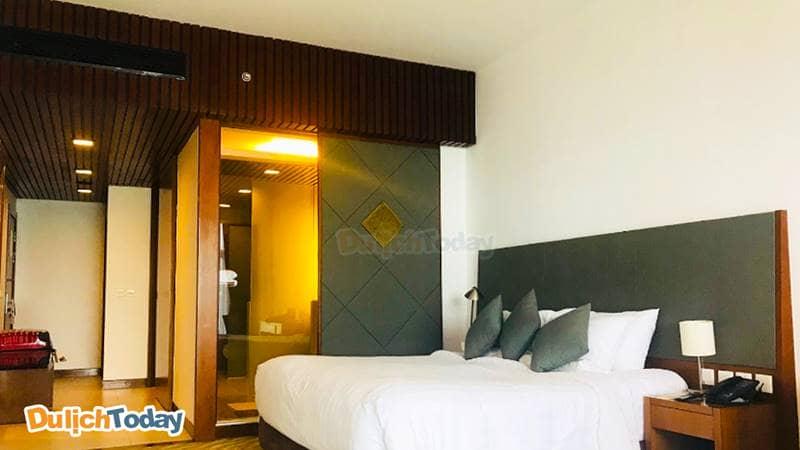 Phòng ngủ đơn giản mà tinh tế tại Novotel hotel
