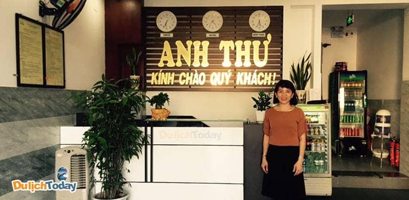 Nhà nghỉ Anh Thư Nha Trang khang trang, gọn gàng từ khách sảnh