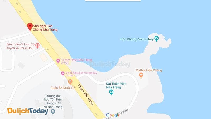 Nhà nghỉ Hòn Chồng Nha Trang nằm sát biển, thuận lợi tới các điểm ngắm cảnh biển tuyệt đẹp