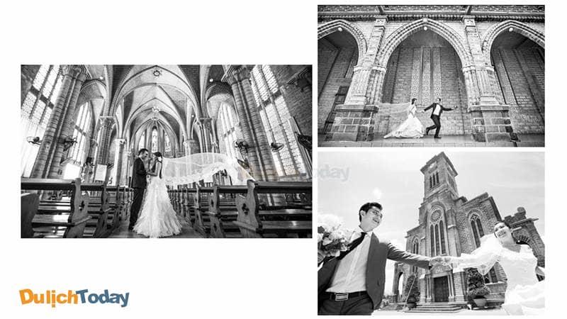 Ảnh cưới chỉnh màu trắng đen mang đến cảm giác hoài cổ