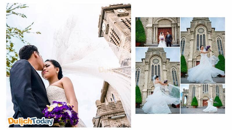 Chụp ảnh cưới tại nhà thờ đá Nha Trang