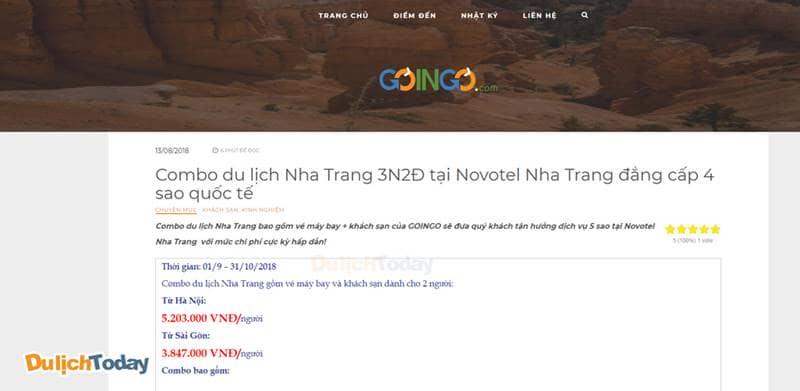 Combo 3N2Đ tại Novotel Nha Trang gồm cả vé máy bay và phòng khách sạn chỉ từ 3.847.000 vnđ/người