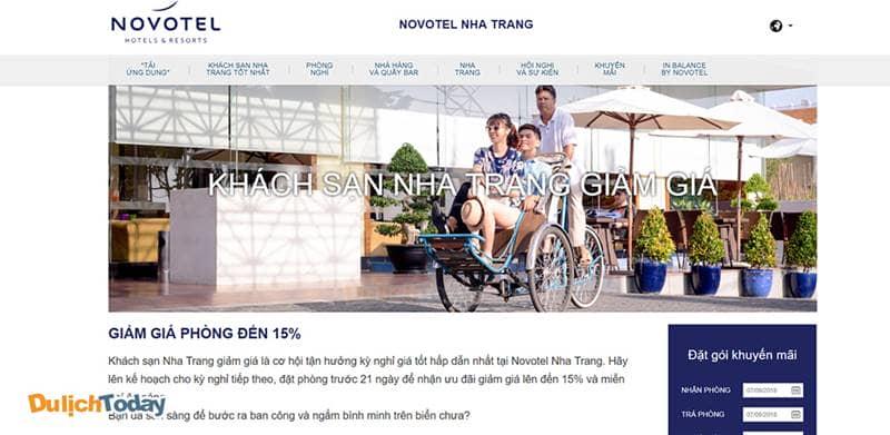 Đặt phòng sớm 21 ngày tại website của Novotel Nha Trang để được nhận giá ưu đãi 15%