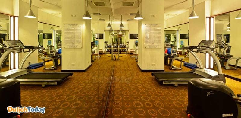 Phòng tập thể hình In Balance Fitness có diện tích không lớn nhưng trang bị đầy đủ máy tập hiện đại