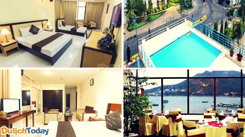 Cùng trải nghiệm phòng nghỉ đẹp, bể bơi ở tầng thượng, nhà hàng với view thẳng ra biển tại khách sạn P&T