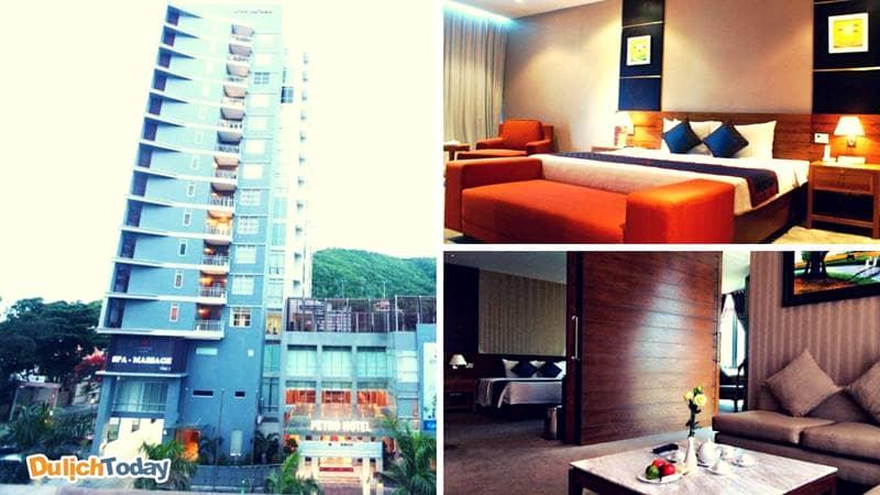 Phòng nghỉ với không gian ấm cúng tại khách sạn Petro