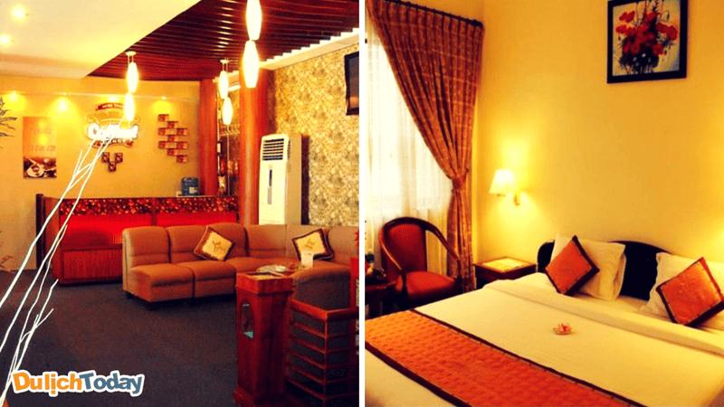 Khách sạn Royal được thiết kế mang màu sắc phương Đông cổ điển và tinh tế