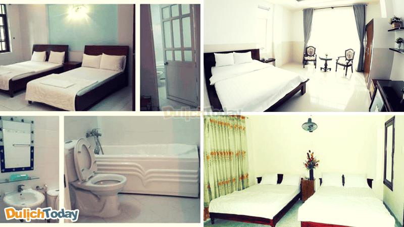 Mỗi phòng tại khách sạn đều có thiết kế đơn giản mang cảm giác gần gũi với du khách