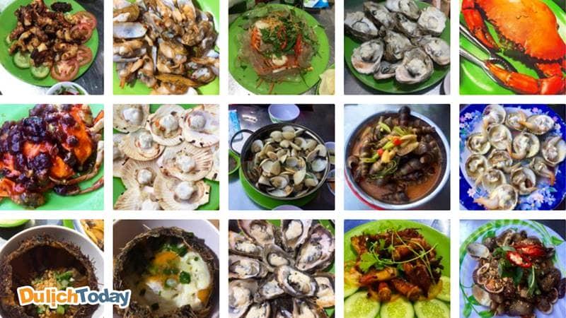 Các món ăn hải sản giá bình dân tại quán ốc Cây Dừa