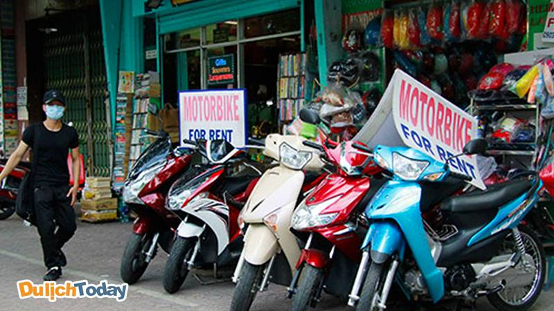 Bạn có thể thuê nhiều xe khác nhau tại du lịch Hải Phong