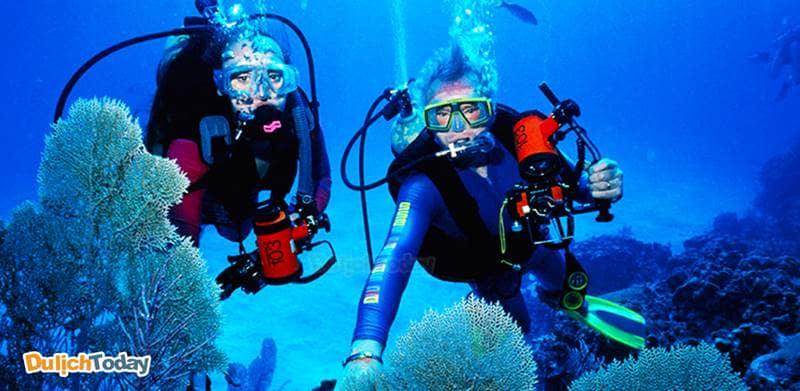 Lặn biển tại Hòn Mun là một trong những tour khám phá và vui chơi nổi bật