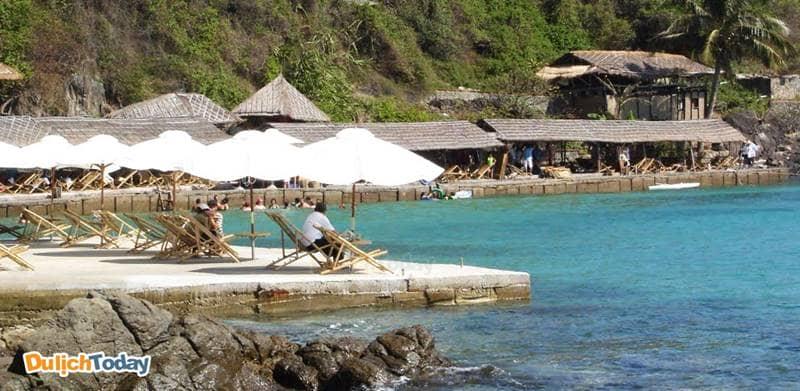 Khu du lịch Con Sẻ Tre là điểm đến thư giãn nếu du khách chọn tour 4 đảo