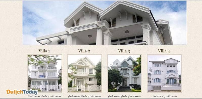 An Bình gồm 4 villa khác nhau với số lượng từ 2 - 6 phòng ngủ