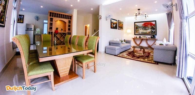 Sahodo Villa Nha Trang E307 với thiết kế hiện đại, tươi sáng và thoáng đãng