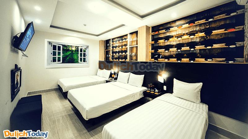 Khách sạnkhông có thiết kế quá cầu kỳ nhưng đều hài hòa, sang trọng là không gian sống ảolý tưởng cho các bạn khi lưu trú tại đây