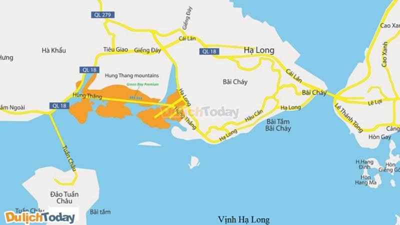 Bãi Cháy luôn có các cung đường thuận tiện để bạn di chuyển khám phá Hạ Long