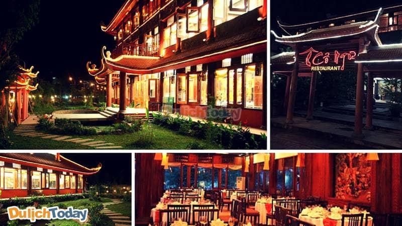 Kiến trúc cung đình vô cùng độc đáo, lộng lẫy tại nhà hàng Cổ Ngư