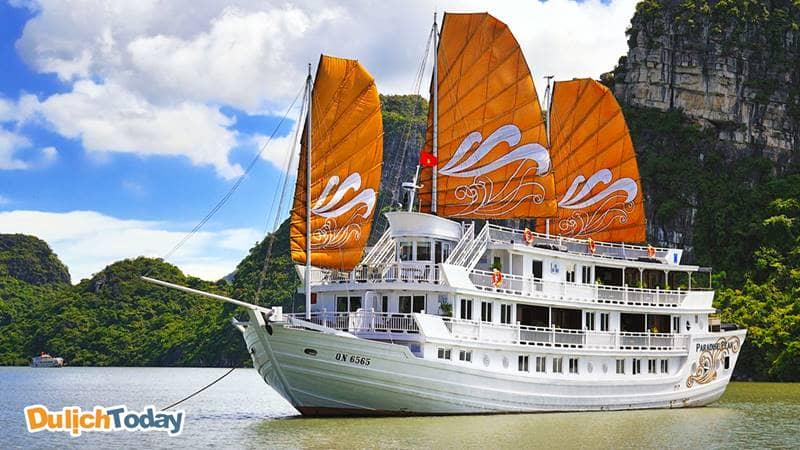 Thuyền buồm gỗ trắng Paradise Luxury