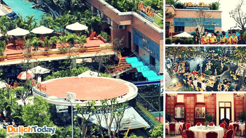 Nhà hàng Hòn Gai nổi tiếng với không gian vô cùng rộng, thoáng