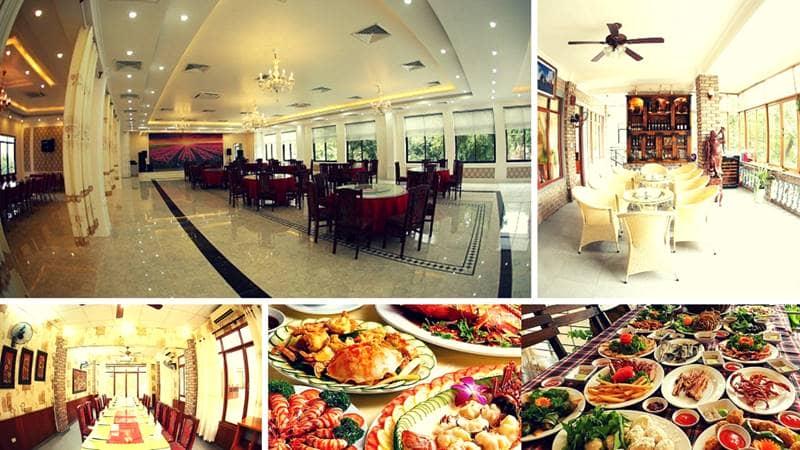 Không gian đẹp cùng với thức ăn đa dạng, phong phú trong nhà hàng